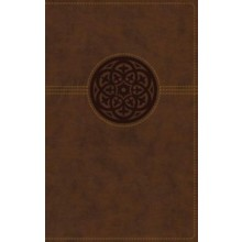 BIBLE NRSV LARGE PRINT THINLINE REF SOFT LEATHER-LOOK BROWN