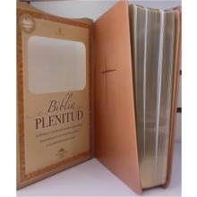 BIBLIA RVR60 ESTUDIO PLENITUD MANUAL IMIT PIEL TERRACOTA