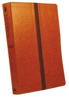 BIBLIA NVI ESTUDIO THOMPSON BICOLOR MARRON/CAFÉ